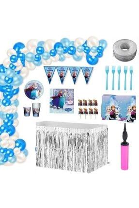 İzmir Partystore Frozen & Elsa Lüks Doğum Günü Parti Seti 16 Kişilik