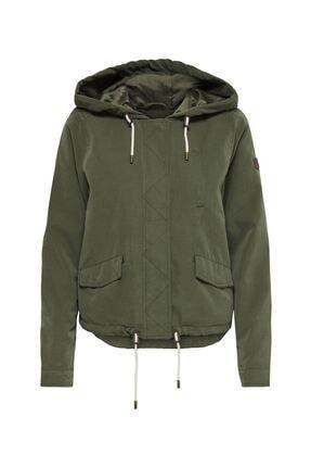 Only Kadın Haki Hood Sprıng Jacket Cc Otw Kalamata Mont  15218613