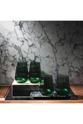 Rakle Matte 6'lı Bardak - Yeşil / 425 ml