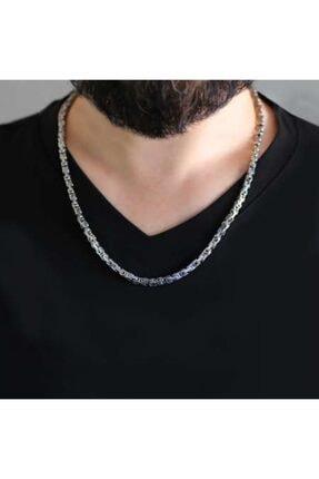 Gümüş Hediye Al Unisex Çelik Kral Zincir Silver Renk Kalınlık 5 mm   317