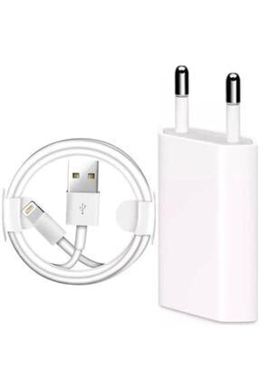 TEKNO GARAGE Iphone 7-8 Şarj Aleti Seti 1 Metre Kablo 5w Başlık + Apple 7-8 Lansman Kılıf