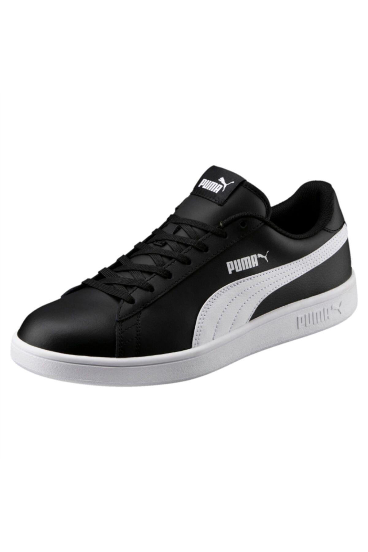 Puma SMASH V2 L Siyah BEYAZ Unisex Deri Sneaker 100323982 2