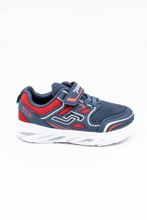 Jump Lacivert Kırmızı Çocuk Spor Ayakkabı