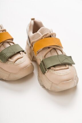 LuviShoes 65140 Vizon Multi Kadın Spor Ayakkabı