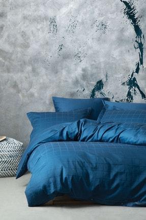 Yataş Bedding Koyu Mavi Destra Saten Tek Kişilik  Nevresim Takımı