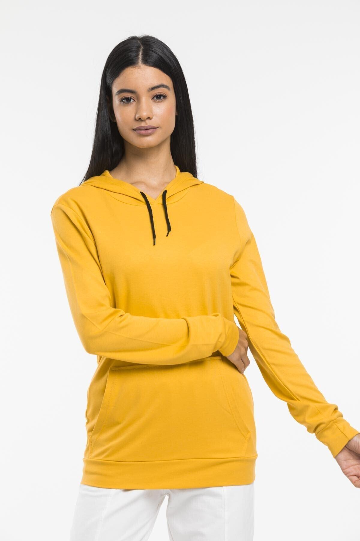 Superlife Kadın Kapş. Kanguru Cepli Sweatshirt 2