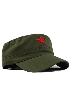 NARKİSSOS Kızıl Yıldızlı Haki Fidel Castro Che Guevara Şapkası