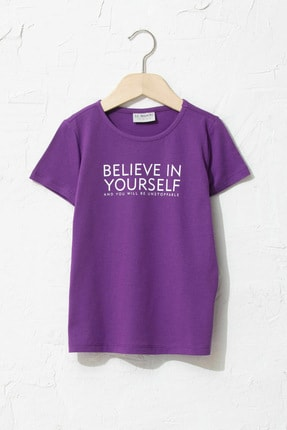 LC Waikiki Kız Çocuk Mor Hsm T-Shirt