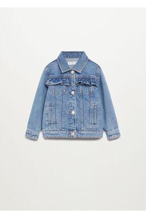 MANGO Baby Fırfırlı Kot Ceket