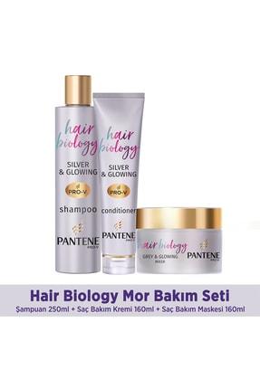 Pantene Hair Biology Turunculaşma Karşıtı Mor Şampuan Seti, Sarı Saçlar Için