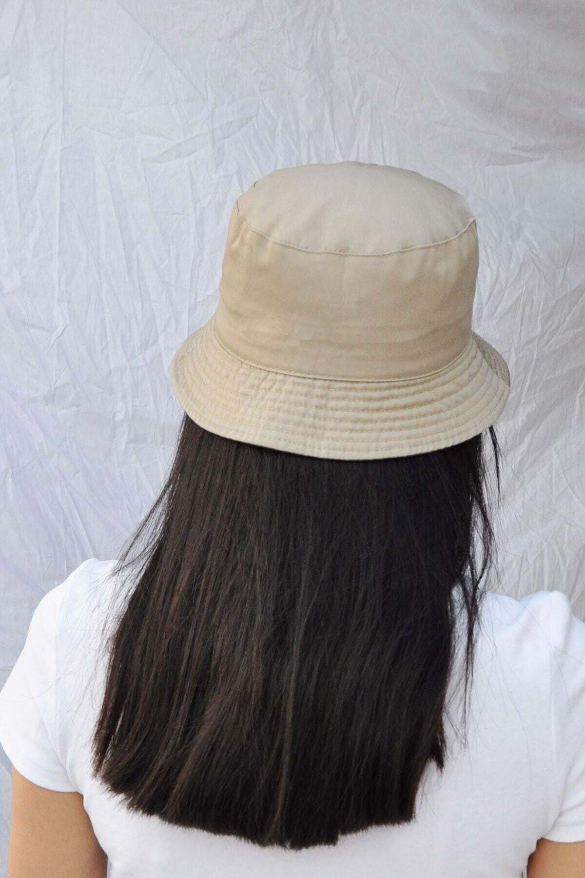 Bobigo Koyu Bej Kova Şapka Balıkçı Şapka Bucket Hat 2