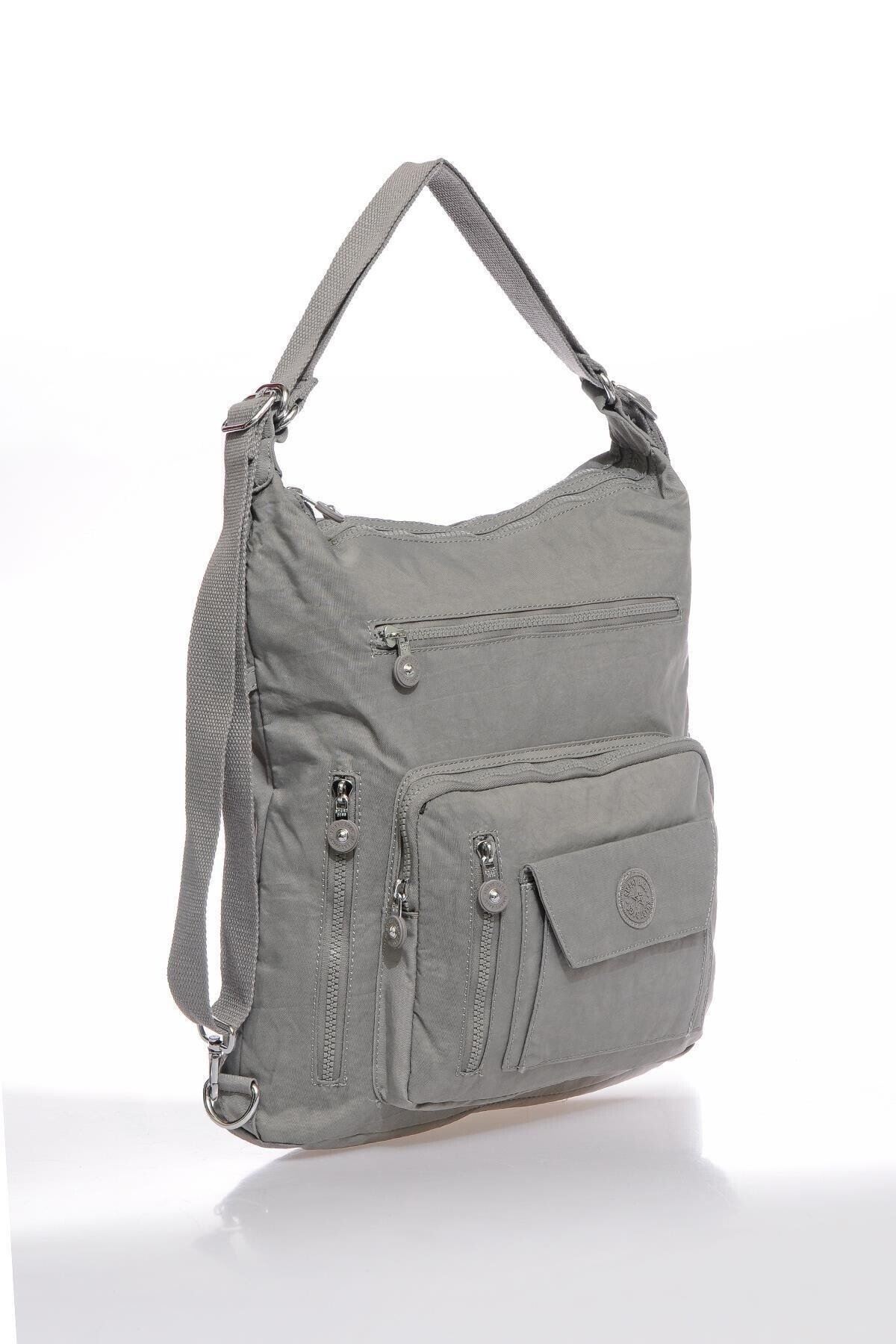 SMART BAGS Smbky1205-0078 Gri Kadın Omuz Ve Sırt Çantası 2