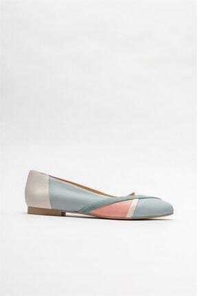Elle Shoes Yeşil Deri Kadın Babet