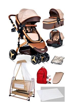 Baby Home 8'in1 Yeni Doğan Set Baby Home 945 Travel Sistem Bebek Arabası Ve 505 Bebek Sepeti Anne Yanı Beşik