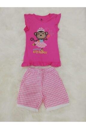 Wonder Kıds Wonder Kids 130606 Kız Çocuk Şortlu Yazlık Pijama Takımı