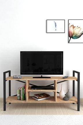 Bofigo Tv Sehpası Raflı Tv Ünitesi Televizyon Sehpası Çam