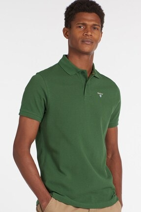 Barbour Erkek  Sports Polo Yaka Ol72 Racıng Green