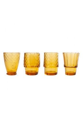 Karaca Fish 4lü Amber Meşrubat Bardağı
