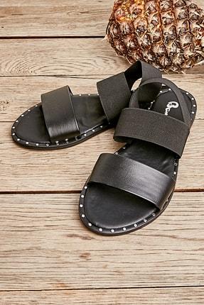 Bambi Siyah Kadın Sandalet K05647160409