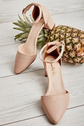 Bambi Pudra Kadın Klasik Topuklu Ayakkabı K01503720009