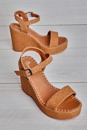 Bambi Taba Kadın Dolgu Topuklu Ayakkabı K05688900310