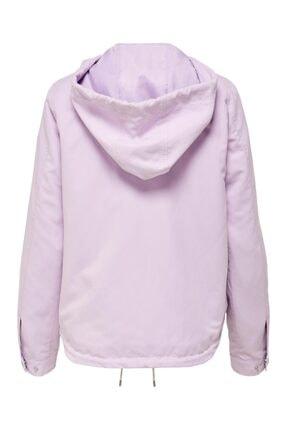 Only Skylar Hood Spring Jacket Cc Otw Kadın Mor Mont 15218613-19