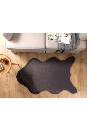 English Home Solid Rabbit Polyester Post 90x150 Cm Antrasit