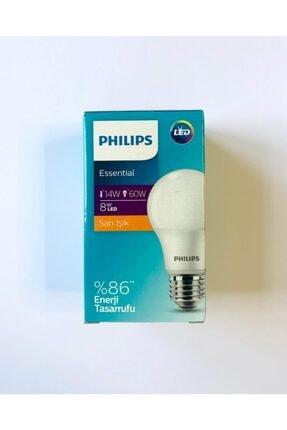 Philips Essential 8w (60w) Led Ampul Sarı Işık E27 Normal Duy