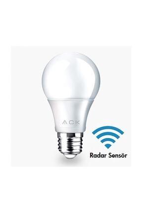 ACK AMPUL LED ACK RADAR SENSÖRLÜ E27 7W  Beyaz Işık
