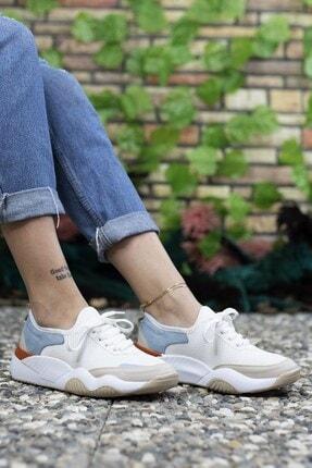 Riccon Kadın Beyaz Sneaker 0012102