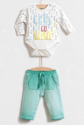 Wogi Erkek Bebek Badi Pantolon 2li Takım 3-15 Ay 5226