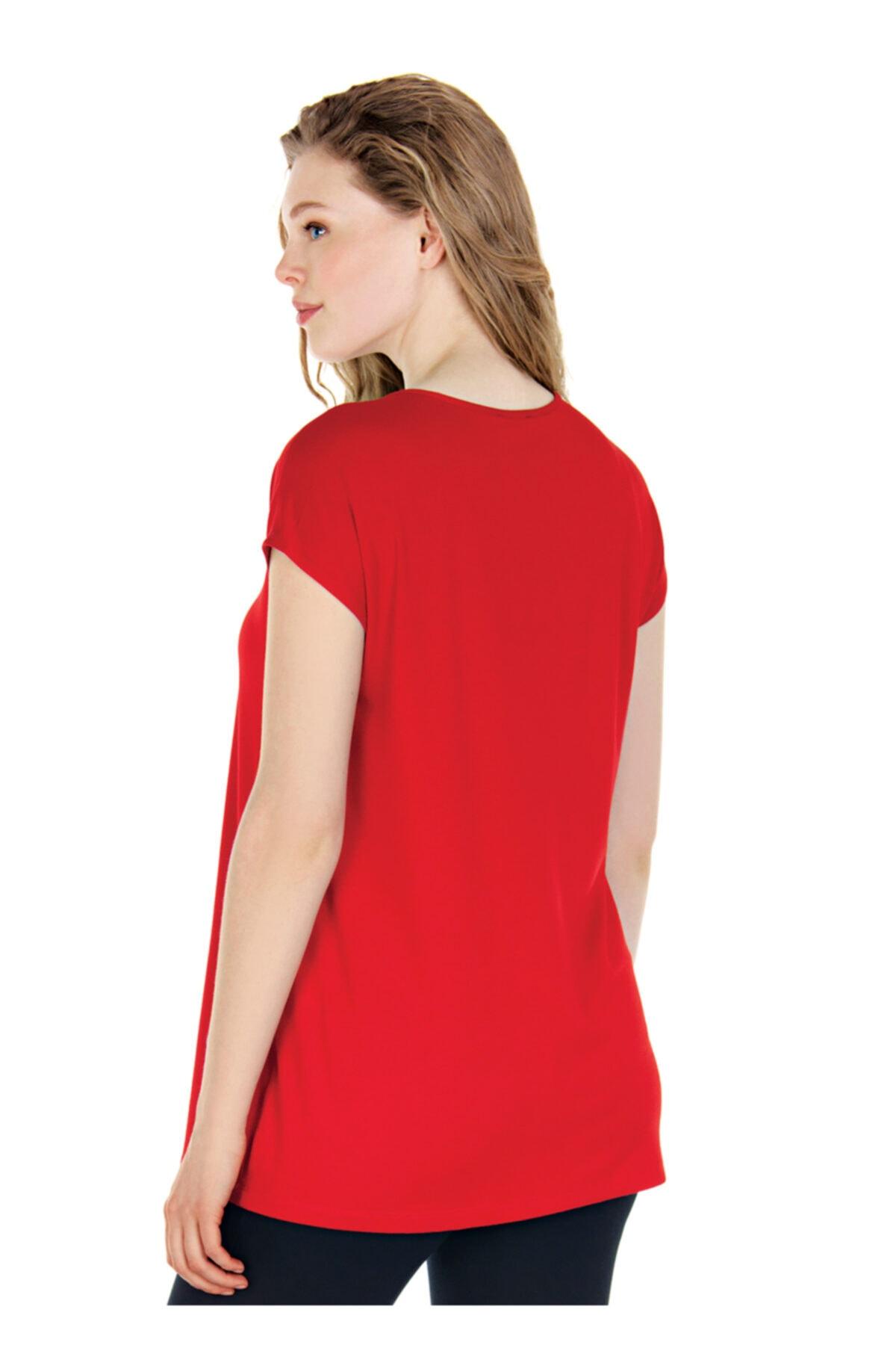 Ebru Maternity Kırmızı Hamile Tişörtü 2