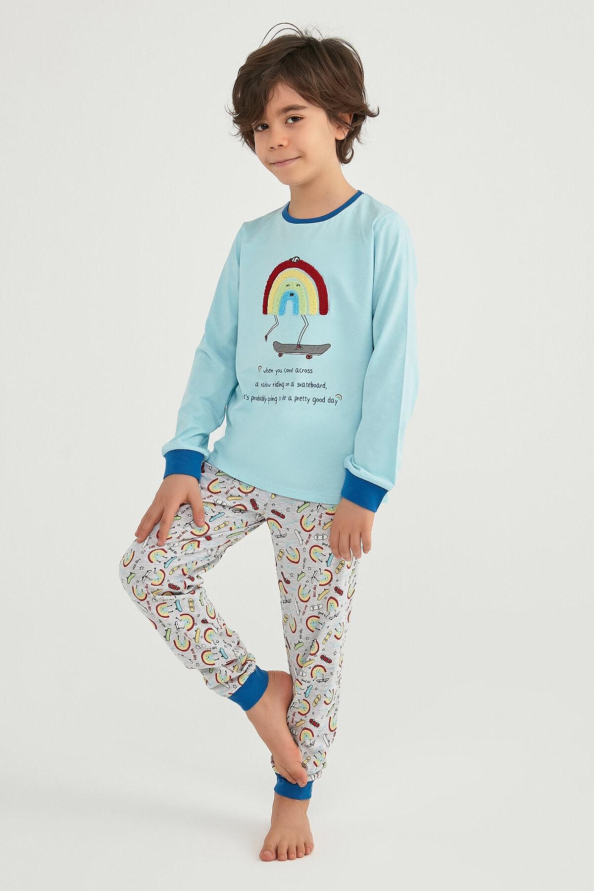 Penti Erkek Çocuk Mavi Pijama Takımı 2'li 2