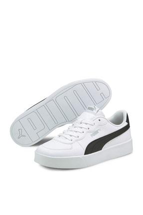 Puma Kadın Skye Clean  Spor Ayakkabı - Beyaz-siyah