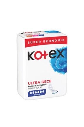 Kotex Ultra Hijyenik Ped Süper Ekonomik Gece 18'li 8691900172175