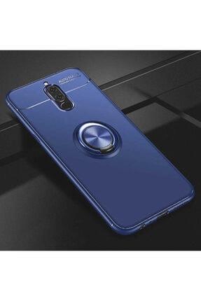 Huawei Mate 10 Lite Kılıf Yüzüklü Standlı Tam Koruma Karbon Silikon Ravel Model