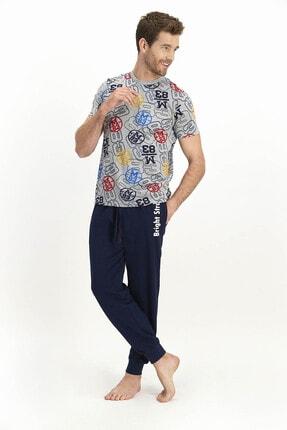 ROLY POLY Erkek Kısa Kol Uzun Pantolon Pijama Takımı