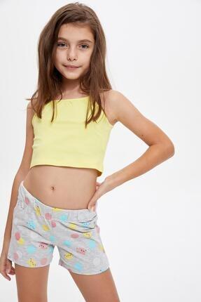 DeFacto Kız Çocuk Basic Crop Fit Atlet