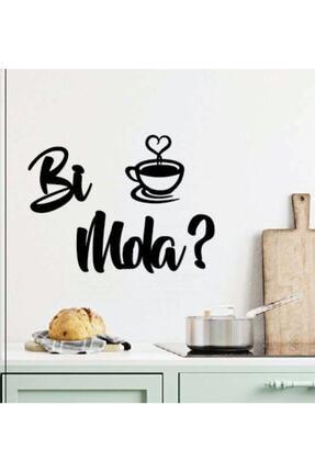 GÜNEŞ LAZER Duvar Dekorasyon Bi Mola Kahve Duvar Yazısı Bi Mola Kahve 25x18cm Dekoratif Mutfak Dekoru