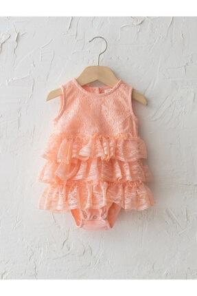 LC Waikiki Kız Bebek Pembe Çıtçıtlı Body