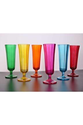 KRD Home Kahve Yanı Su Bardağı Flüt Model 6'lı Cam