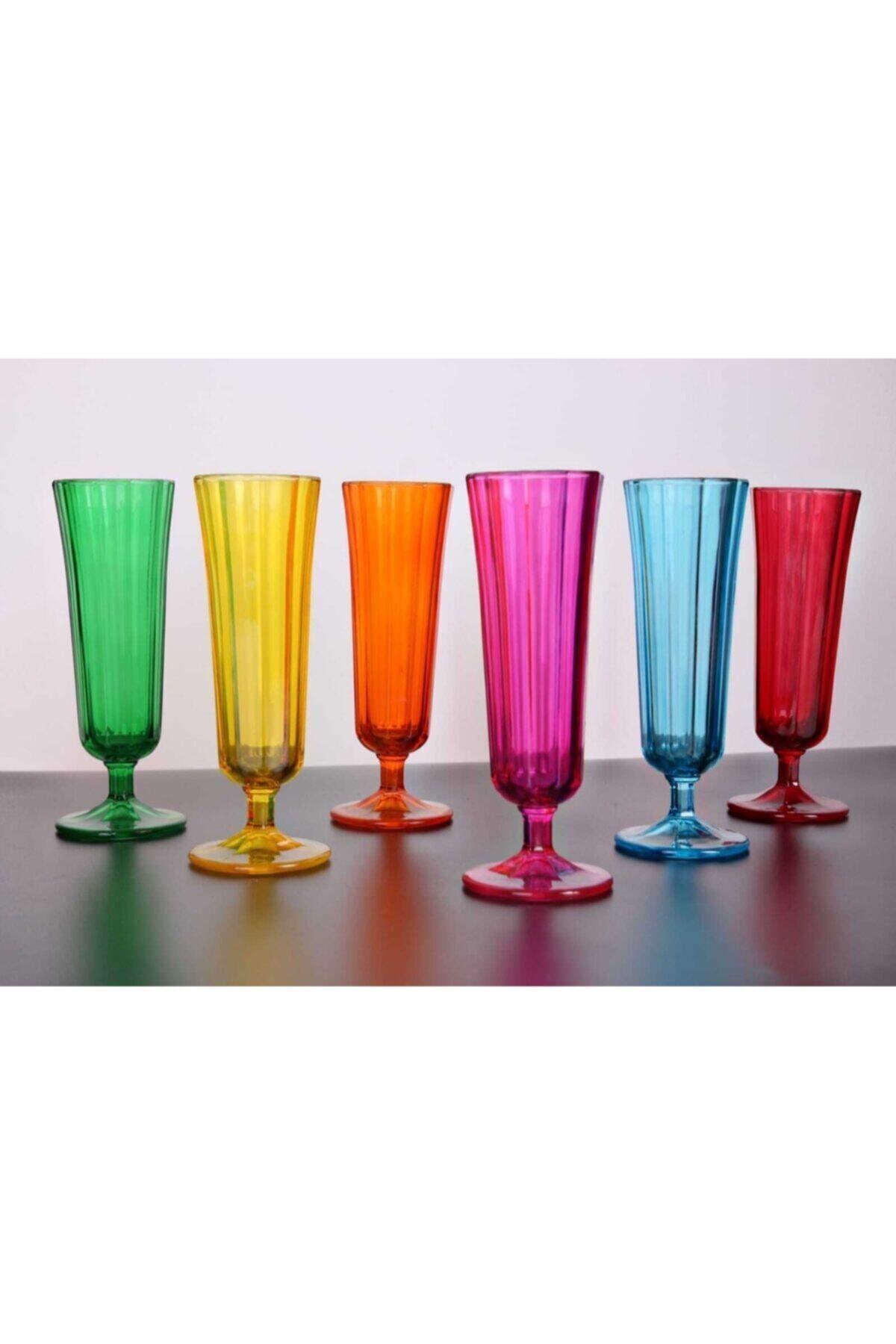 KRD Home Kahve Yanı Su Bardağı Flüt Model 6'lı Cam 1