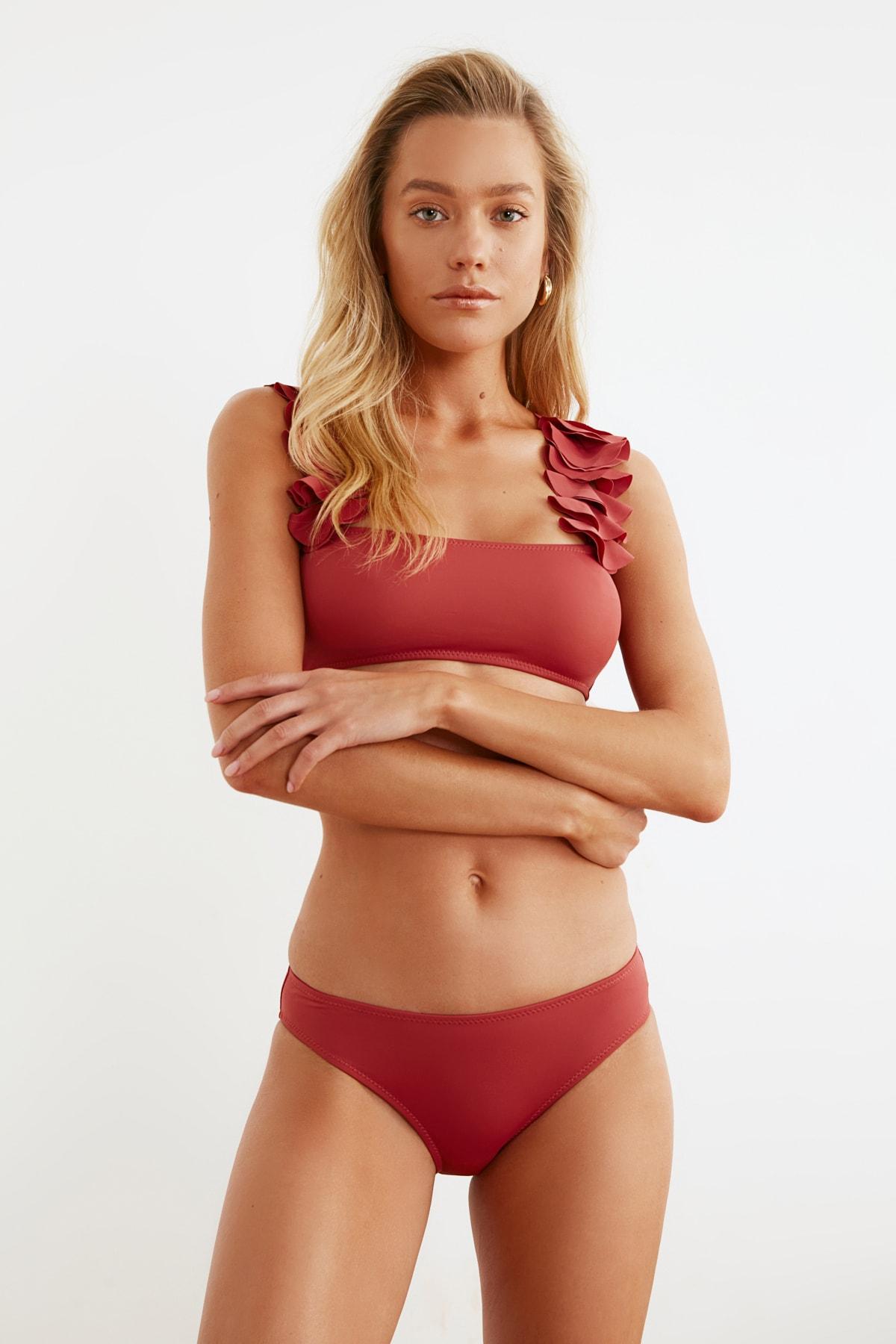 TRENDYOLMİLLA Tarçın Normal Bel Bikini Altı TBESS21BA0006 2