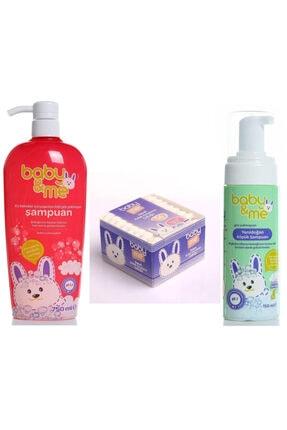 Baby&Me Şampuan + Köpük Şampuan + Kulak Kurulama Çubuğu Seti