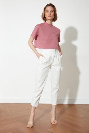 TRENDYOLMİLLA Ekru Cep Detaylı Pantolon TWOSS21PL0271