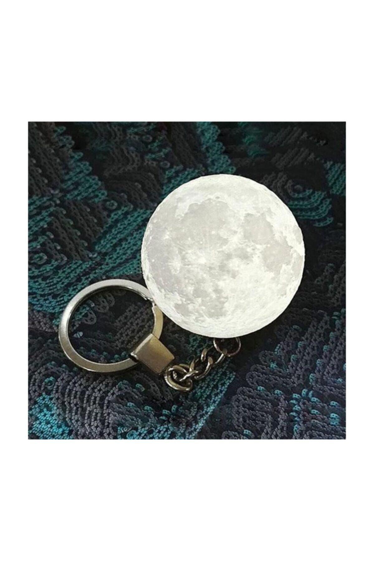 Led Anahtarlık 3d Moon Lamba Işıklı Ay Anahtarlık 1