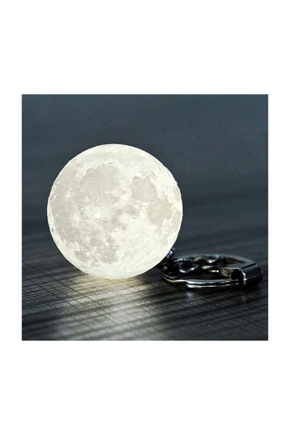 Led Anahtarlık 3d Moon Lamba Işıklı Ay Anahtarlık 2