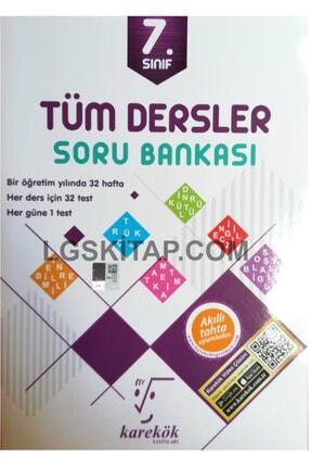 Karekök Yayınları 7.Sınıf Çözümlü Tek Kitap Tüm Dersler Soru Bankası