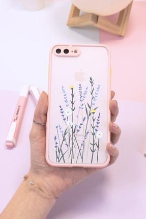 Spoyi Iphone 7 Plus - 8 Plus Pembe Hux Soft Lavander Tasarımlı Telefon Kılıfı