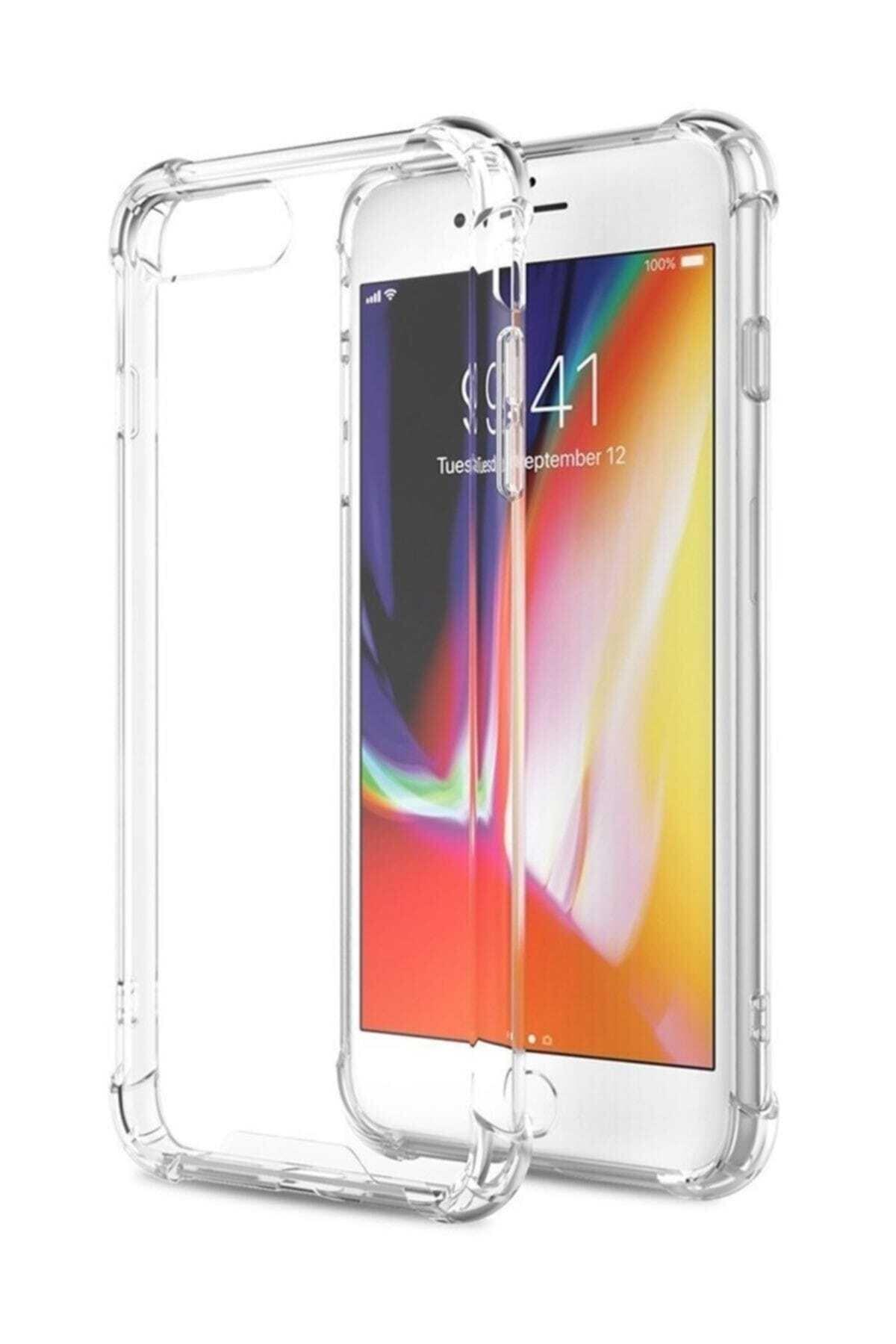 Telefon Aksesuarları Iphone 7 Plus - 8 Plus Ultra Ince Şeffaf Airbag Anti Şok Silikon Uyumlu Kılıf- Şeffaf 2